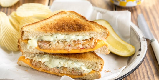 Krabbycake Grilled Cheese
