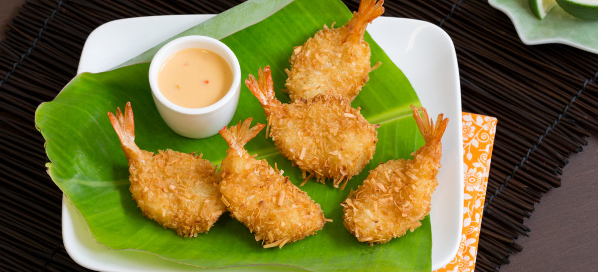Coconut Shrimp with Sweet Soy Coconut Sauce
