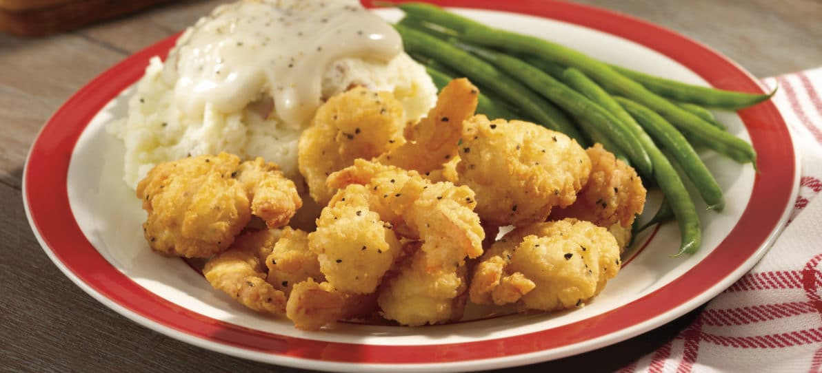 Oceanway® Homestyle Breaded Tail-on Shrimp