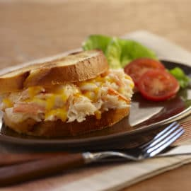 Crab and Seafood Cheddar Melt