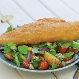 "Crunchy Haddock ""FishNChips"" Salad"