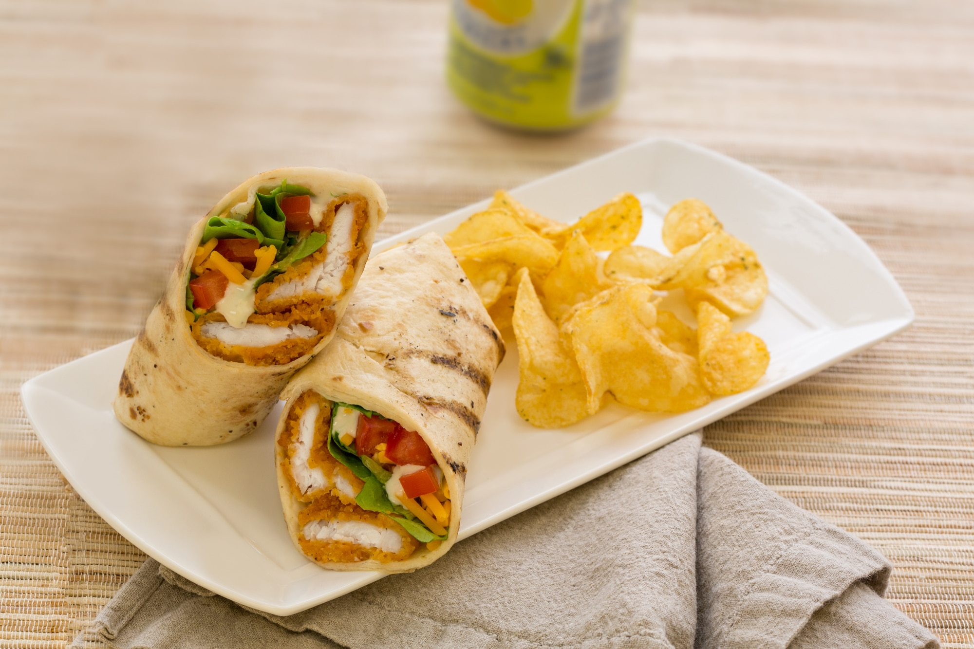 Buffalo style flounder wrap recipe king and prince seafood for How to cook buffalo fish