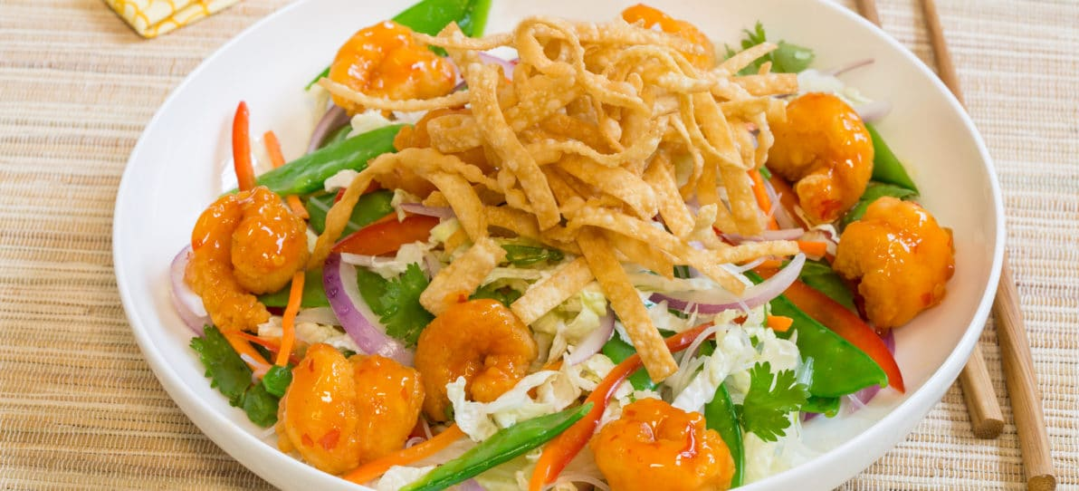 Crispy Thai Shrimp Noodle Salad