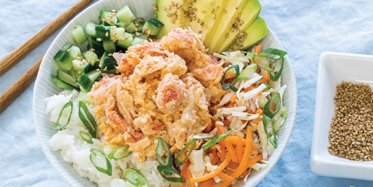 Lobster Sushi Roll Bowl