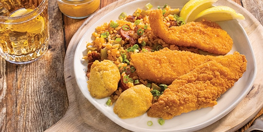 Southern Flounder with Charleston Red Rice
